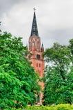 Pori finland Chiesa luterana centrale immagini stock libere da diritti