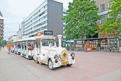 Pori finland Treno turistico di divertimento immagini stock libere da diritti