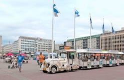 Pori Finlandia zabawy turysty pociąg Zdjęcia Royalty Free