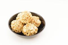 Pori Urundai or Murmura balls (Sweet Puffed Rice balls) Stock Photo