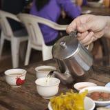 Poring Tea Royalty Free Stock Photography