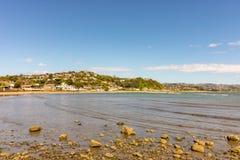Porirua fjärd, Wellington Region, Nya Zeeland Arkivfoto