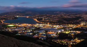 Porirua Night Lights Stock Photo