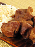 Pork Adobo with Rice Stock Photos