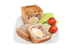 Pork And Egg Pie With Salad Royalty Free Stock Photo