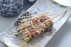 Pork Asparagus roll Stock Photo