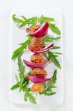 Pork and bacon skewer Royalty Free Stock Image