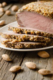 Pork baked in almond crumb Royalty Free Stock Photography
