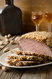 Pork baked in almond crumb Royalty Free Stock Image