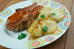 Pork baked  Loins Stock Images