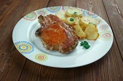 Pork baked  Loins Stock Image