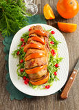 Pork baked with persimmons Royalty Free Stock Photography