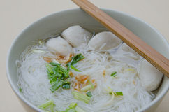Pork ball Noodles Stock Image