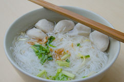 Pork ball Noodles Royalty Free Stock Photography