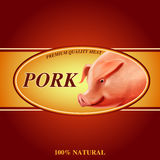 Pork banner Stock Image
