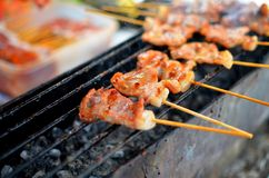 Pork barbecue grill Royalty Free Stock Images