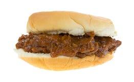 Pork in barbecue sauce sandwich Stock Photos