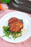 Pork barbecue steak Royalty Free Stock Images