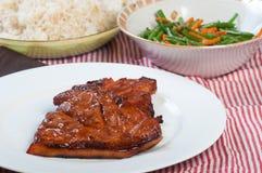Pork barbecue steak Stock Photos