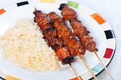 Pork barbecue sticks Stock Images