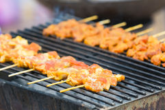 Pork barbecue in Thailand Stock Photo