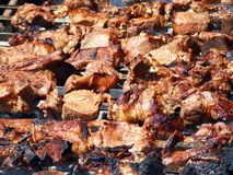 Pork barbeque Stock Images