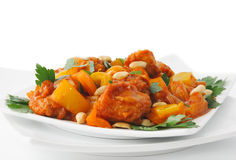 Pork in Batter Sweet and sour sauce Royalty Free Stock Photography