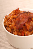 Pork and beans with bacon Royalty Free Stock Photo