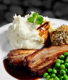 Pork Bellies And Mash Stock Image