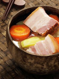 Pork belly stew. Delicious and hearty pork belly stew Royalty Free Stock Image