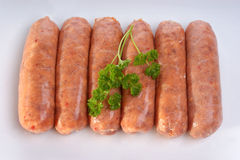 Pork black pepper sausages Stock Photos