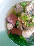 Pork blood soup Stock Images