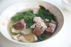 Pork blood soup Stock Photos