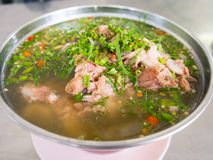 Pork bone hot and spicy soup. Royalty Free Stock Images
