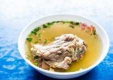 Pork bone soup. In bowl Stock Photo