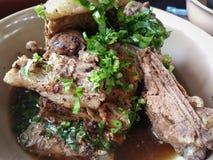 Pork bone soup. Braised pork Pork bone soup with coriander Royalty Free Stock Images