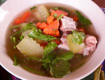 Pork bone soup. Carrot Vegetable winter melon royalty free stock photography