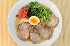 Pork bones ramen. A Japanese food called `tonkotsu ramen Royalty Free Stock Photo