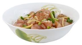 Pork in the bowl Stock Image