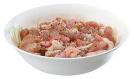 Pork in the bowl Stock Photos