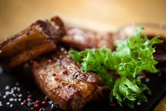 Pork breast on rib Stock Image