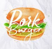 Pork burger Stock Photography