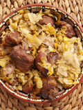 Pork with cabbage Stock Photo