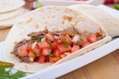 Pork carnita with pico Royalty Free Stock Photography