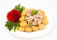 Pork with champignons Royalty Free Stock Images
