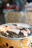 Pork on charcoal grill Royalty Free Stock Photography