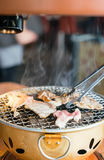 Pork on charcoal grill Royalty Free Stock Photo