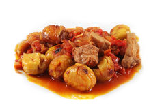 Pork with chestnuts Royalty Free Stock Photo