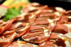 Pork with chili sauce Stock Image