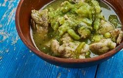 Pork Chili Verde. Southwestern-style chili , Pork slowly stews with jalapenos, onion, green enchilada sauce Stock Images